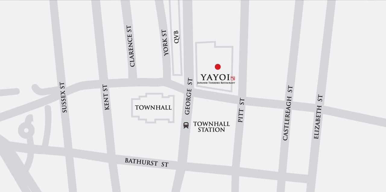 Yayoi Chain Japanese Restaurant Sydney Townhall Map